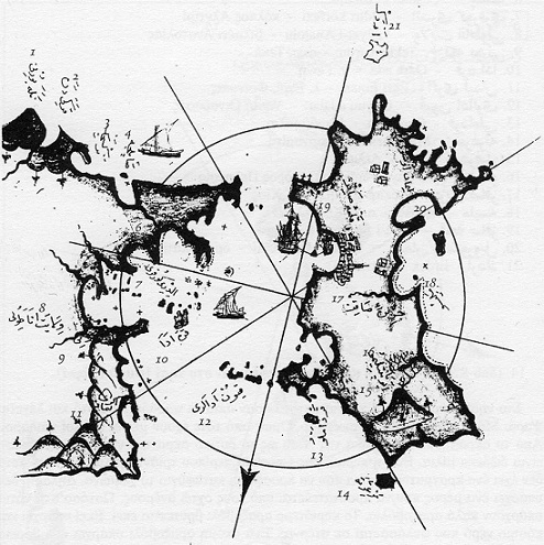 Map of Chios by the Ottoman cartographer Piri Reis