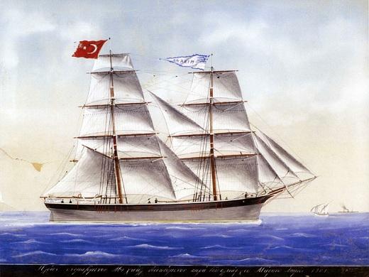 The sailing ship 'Michael' of Markos Laimos, 1901.