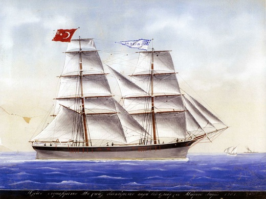 The sailing ship 'Michael' of Markos Laimos, 1901.