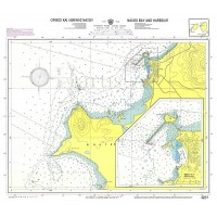 Naxos Bay and Harbour (Naxos Island) Nautical Chart
