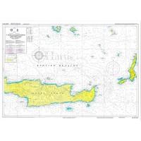 East Crete - to Santorini to Kasos Island Nautical Chart