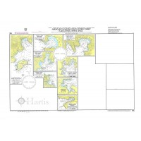 Plans in Kythnos - Serifos - Sifnos Islands Nautical Chart