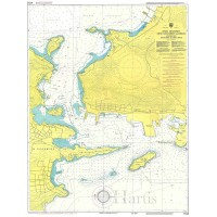 Keratsini Bay - Salamina Naval Base Strait Nautical Chart