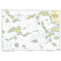 Andros to Chalki Island Nautical Chart
