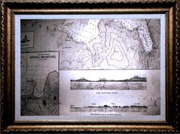 Amvrakikos Bay Nautical Chart, issued in 1922