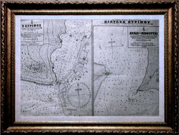 Channel Eyripos Nautical Chart, issued in 1918