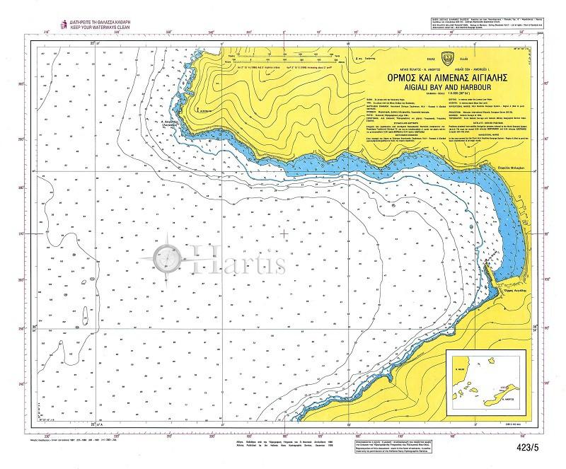 Aigiali Bay and Harbour (Amorgos Island) Nautical Chart
