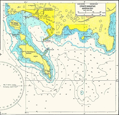 Anchorages of Chios - Oinousses Islands Nautical Chart
