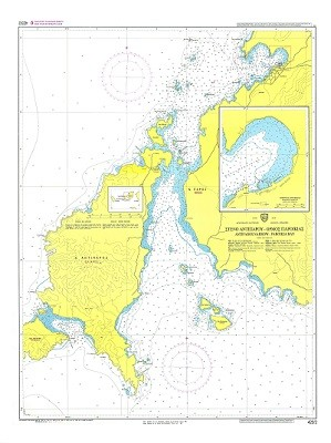Antiparos Narrow- Paroikia Bay (Cyclades Islands) Nautical Chart