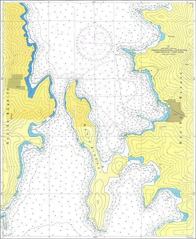Bays and Port of Ikaria Island and Fournoi Islet Nautical Chart