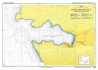 Katapola Bay and Harbour (Amorgos Island) Nautical Chart
