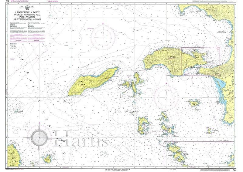 Naxos to Samos & Asian Minor Coast Nautical Chart
