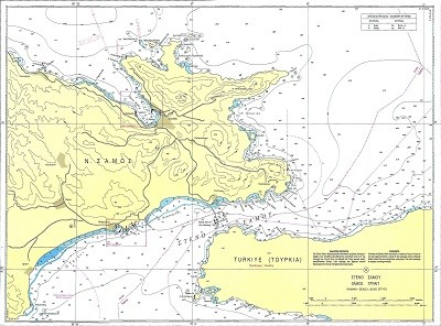 Samos Strait - Samos Bays and Harbours Nautical Chart