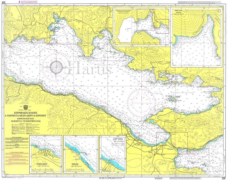 Corinthiakos Gulf Psaromyta C. to Corinthos Canal Nautical Chart