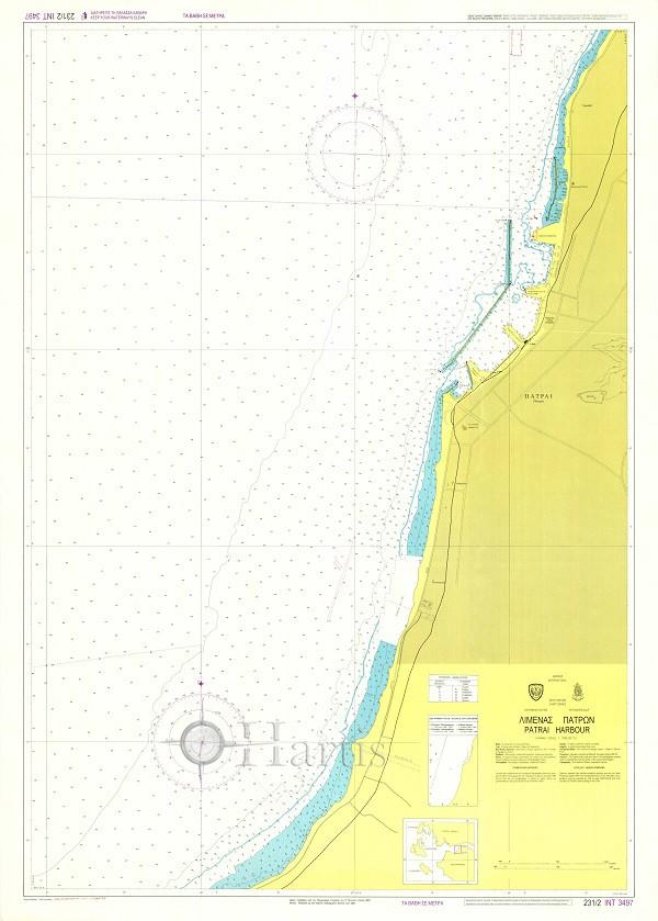 Patrai Harbour (Patraikos Gulf) Nautical Chart