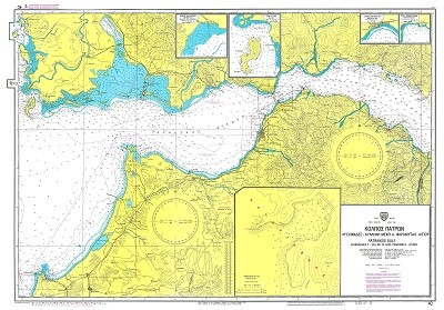 Patraikos Gulf  - Echinades Isles - Killini to Cape Psaromita and Aigio Nautical Chart