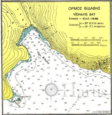 Bays in the North Coasts of Corinthiakos Gulf Nautical Chart