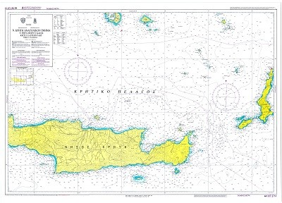East Crete - to Santorini to Kasos Island Nautical Chart