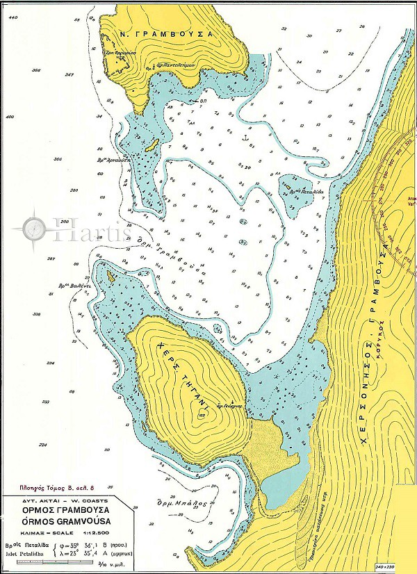 Gramvoussa - Kolimvari - Agioi Theodoroi Bays (Kriti Island) Nautical Chart