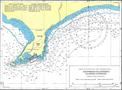 Koutri - Palaiochora Bays (Kriti Island) Nautical Chart