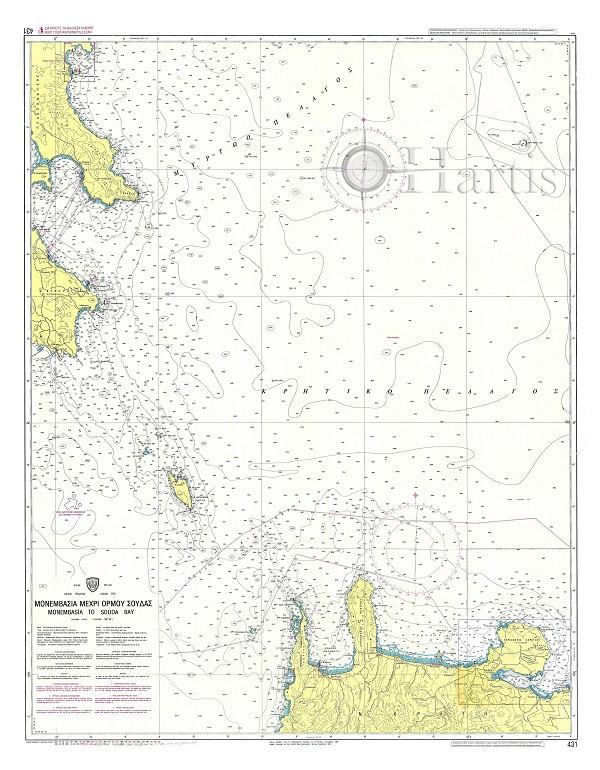 Monemvasia to Souda Bay Nautical Chart