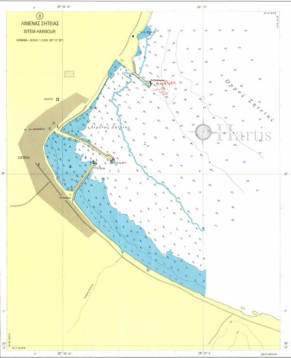 Agios Nikolaos Bay - Siteia Harbour Nautical Chart