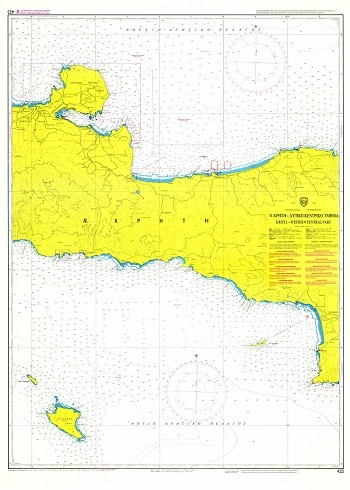 West-Central Crete Nautical Chart