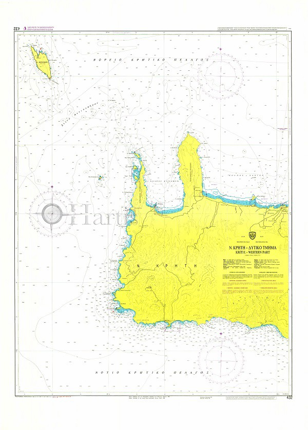 West Crete Nautical Chart