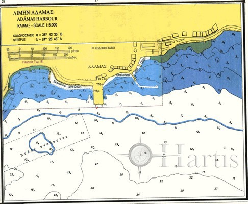 Bays of Milos Island Nautical Chart