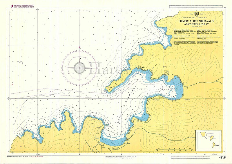 Agios Nikolaos Bay (Kea Island) Nautical Chart