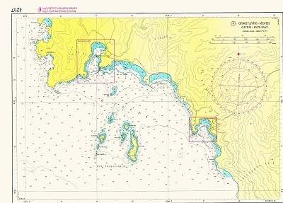 Bays and Harbours of Andros Island Nautical Chart