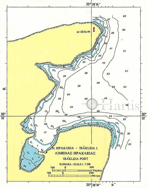 Bays and Harbours of Islands Paros - Schoinoussa - Donoussa - Irakleia and Koufonissos Nautical Chart