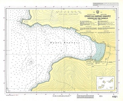 Kamares Bay and Harbour (Sifnos Island) Nautical Chart