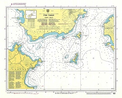 Kimolos Straits (Kyklades Islands) Nautical Chart
