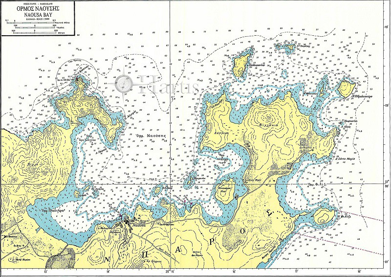 Bays and Harbours of Islands Paros - Schoinoussa - Donoussa - Irakleia and Koufonissos Nautical Chart