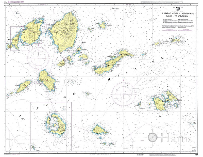 Paros to Astypalaia Island Nautical Chart