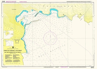 Bay and Harbour of Kalymnos Island Nautical Chart