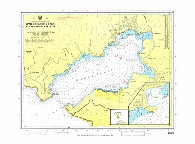 Bay and Harbour of Lakki (Leros Island) Nautical Chart
