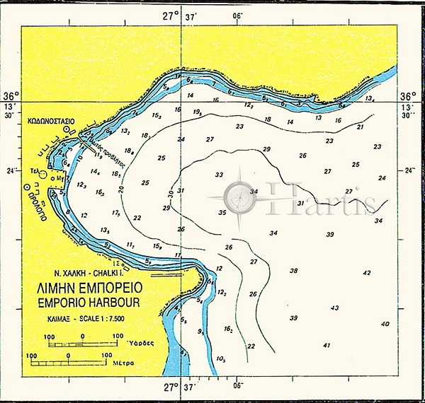 Harbours of Islands Symi - Nisyros - Chalki Nautical Chart