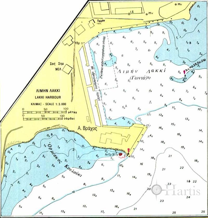 Bay and Harbour of Lakki (Leros Island) Nautical Chart