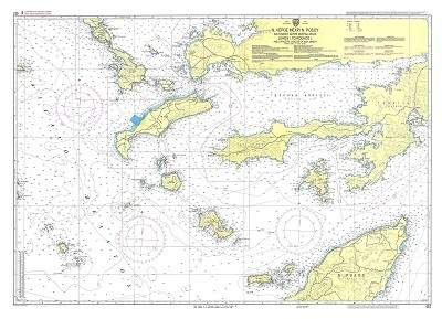 Leros Island to Rhodes and Asian Minor Coast Nautical Chart