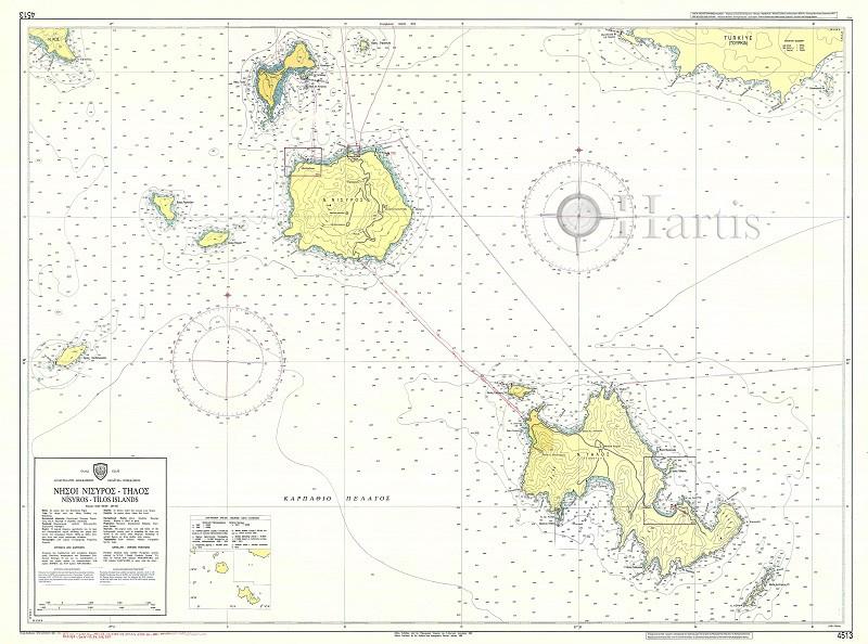 Nisyros Island to Tilos Nautical Chart