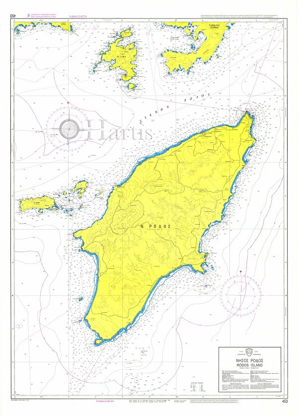 Rhodes Nautical Chart