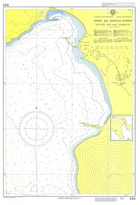 Aliveri bay and Harbour (South Evoikos Gulf) Nautical Chart