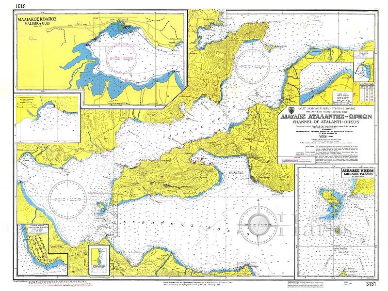 Atalanti - Oreoi Strait  Nautical Chart