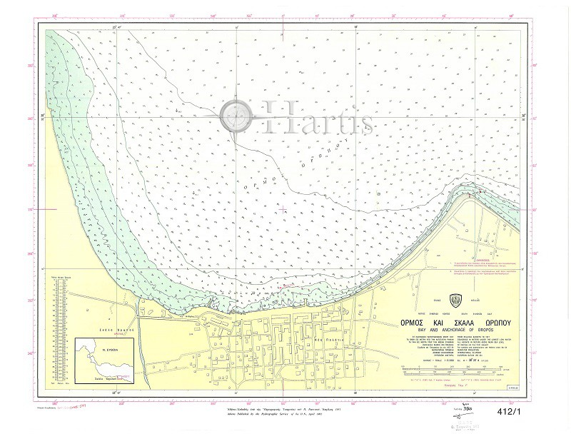Bay and Anchorage of Oropos (South Evoikos Gulf) Nautical Chart
