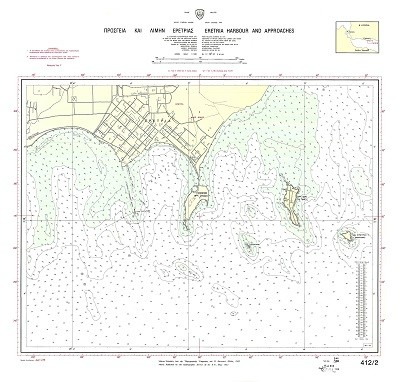 Eretria Harbour and Approaches (S. Evoikos Gulf) Nautical Chart