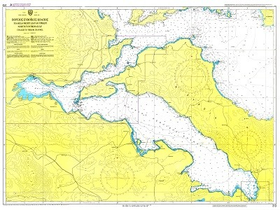 North Evoic Gulf - Chalkida to Trikeri Pass Nautical Chart