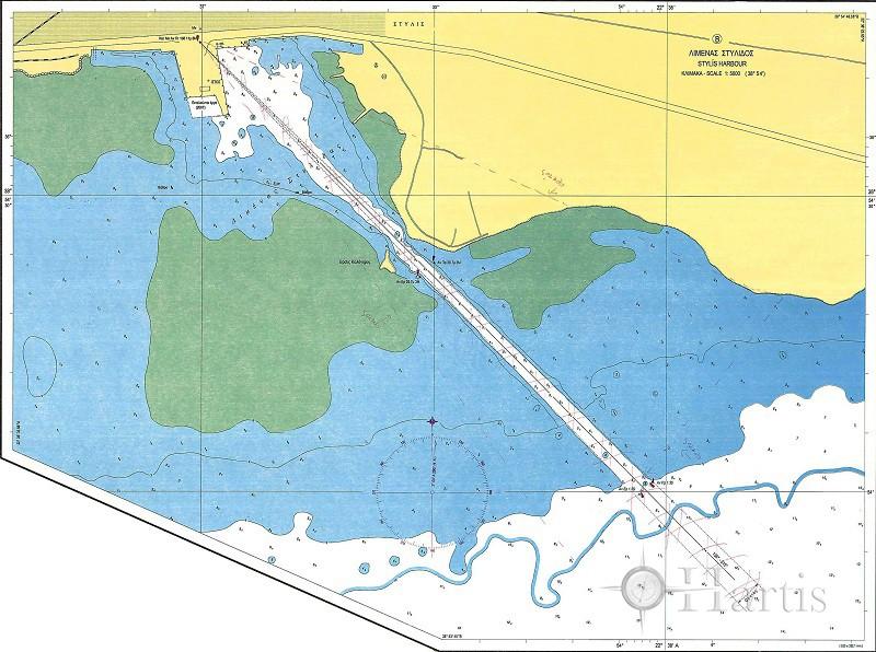 Maliakos Gulf - Inner Part (Lamia Gulf) Nautical Chart