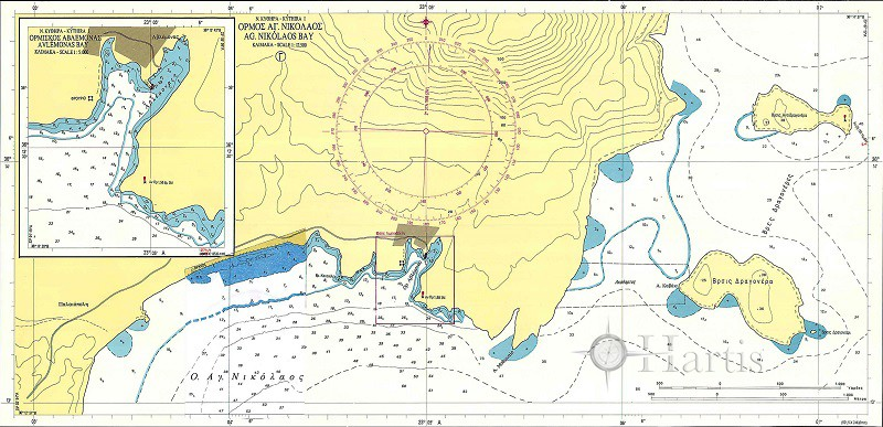 Bays and Harbous of Kythira and Antikythira Islands Nautical Chart